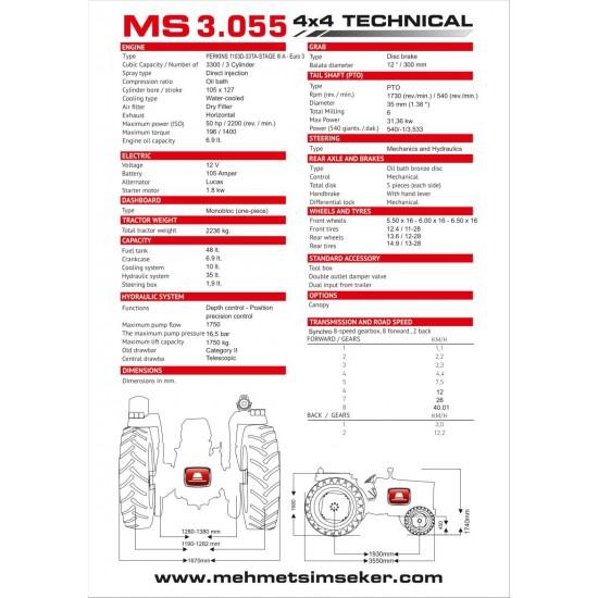 Mehmet Şimşeker MS3.055 4x4 Traktör